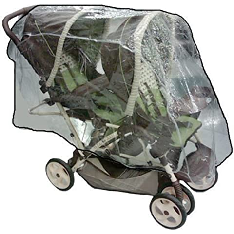 Sashas Rain and Wind Cover for Graco DuoGlider Tandem Stroller by Sashas