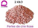 2 kg de Perles de cire ROSE à épiler pelable - 2 sachets de 1000gr TOP PROMO