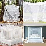 favourall Moskitonetz Doppelbett Reise Mückennetz Mückennetz Bett Extra Groß, Tragbare Camping Mückennetz Garten Outdoor Moskitonetz Vorhang Mit Tasche, Große Öffnung