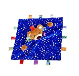 Inchant Educational Sicherheit Decke, Taggies Bär Zeichendecke Schöne Taggie Tröster Taggies Sicherheitsdecke für Baby Easy To Grsap