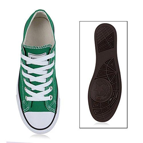 Damen Herren Kinder Unisex Schuhe Sneaker low Top Schnürschuh Halbhoch Moosgrün