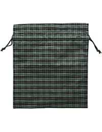Dolshe Checked Nylon Drawstring Four Bags For Men, Large, Multi-Colour