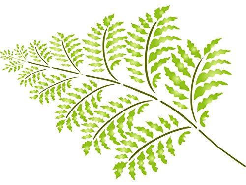 Farn Schablone–wiederverwendbar Große Pflanze mit Frond Wand Schablone–Vorlage, auf Papier Projekte Scrapbook Tagebuch Wände Böden Stoff Möbel Glas Holz etc. L