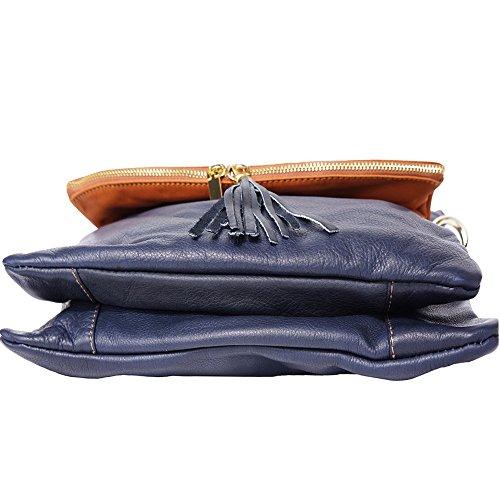 Hobo Bag Con Cinghie Lunghe 3117 Denkel Blu-tan