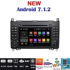 android 7 1 gps dvd usb autoradio 2 din navigatore mercedes classe b w245 classe a w169. Black Bedroom Furniture Sets. Home Design Ideas