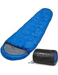 Sacco a Pelo 300 GSM, 3-4 Stagioni, Mummia, Ideale per Campeggio e Escursioni