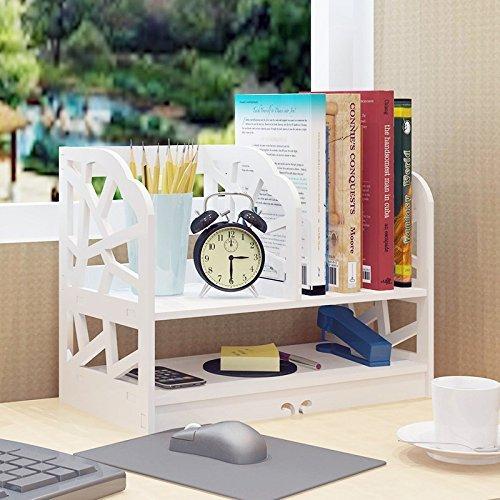 DL furniture DL Möbel-3Fach Wood Plastic Composite Schreibtisch Organizer, Perfekt für Bücherregal, Make up Organizer, Cookie Rack 15.8