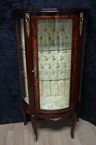 LouisXV Barock Vitrine Rokoko Antik Stil Schrank Louis XV MKVi0033 Antik Stil Massivholz....