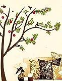 Dibujos animados Createforlife flor verde árbol genealógico infantil de pared dodoskinz