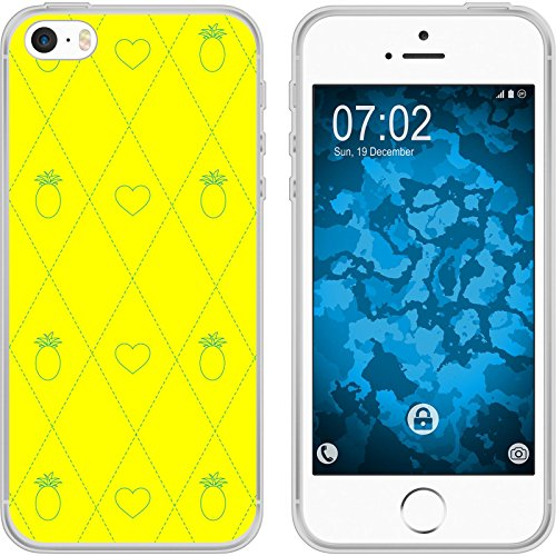 PhoneNatic Case für Apple iPhone 5 / 5s / SE Silikon-Hülle Sommer Melone M5 Case iPhone 5 / 5s / SE Tasche + 2 Schutzfolien Motiv1