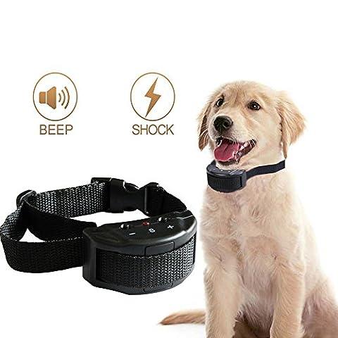 Collier de chien sans choc d'écorce avec 7 niveaux de sensibilité - Pas de nuisance, Pas de vibration de la douleur, Boucles réglables pour petits, moyens et grands chiens - Prévenir l'aboiement, Assurer un bon comportement et faciliter la