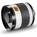 Walimex Pro 800mm 1:8,0 DSLR-Spiegelobjektiv (Filtergewinde 35mm) für Pentax K Objektivbajonett weiß
