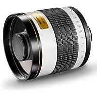 Walimex Pro 800mm 1:8,0 DSLR-Spiegelobjektiv für Pentax K Objektivbajonett weiß ( für Vollformat Sensor gerechnet, Filterdurchmesser inkl. Schutzdeckel)