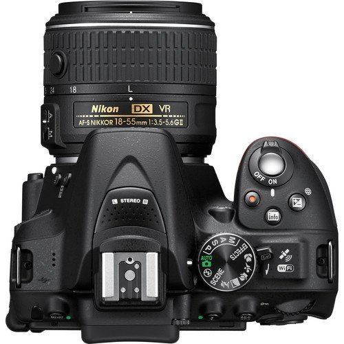 Nikon D5300 DSLR Camera Body with Dual Lens: AF-P DX NIKKOR 18 - 55 mm f/3.5 - 5.6G VR + AF-P DX NIKKOR 70 - 300 mm f/4.5 - 6.3G ED VR (16 GB SD Card + Camera Bag)(Black) 1