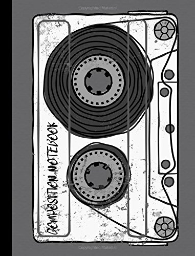 Vintage Retro Mixtape Old School 80s Blank Cassette Composition Notebook: College Ruled Writer's Notebook/Journal for School / Student / Teacher / ... Volume 1 (Retro Old School Composition Books)