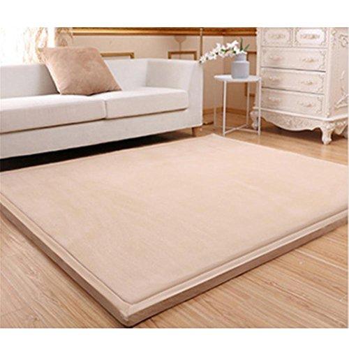 WENBIAOXUEDickere Tatami mat bodenmatte erker matratze Baby splittersichere Matte Schlafzimmer Teppich, 1.5 x 2 Meters (Thick 3cm), Sky Brown