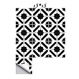 10pcs Fliesenaufkleber 15 * 15cm/20 * 20cm Einfacher und nicht einfacher nordischer Stil PVC entfernbarer Kleber starker Kleber Fliesenaufkleber für Bad und Küche