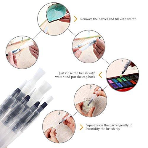 Zoom IMG-3 pennelli ad acqua dighealth acquerello