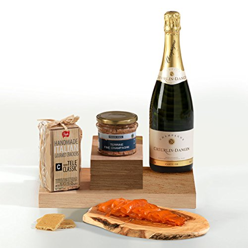 Hay Hampers Champagne & Canapes in Gift Box Hamper - FREE UK Delivery