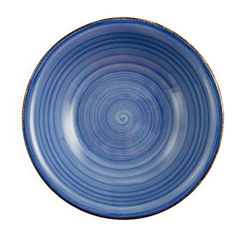 Villa d ' Este nach Hause Tivoli Bi-Baita-Set 6 Suppenteller set 22 x 22 x 6 cm blau