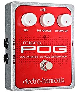 Electro-Harmonix Micro POG Polyphonic Octave Generator Guitar Effects Pedal