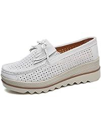 Mujer es Para Zapatos Mocasines Amazon Blanco Y dFCXqCwI
