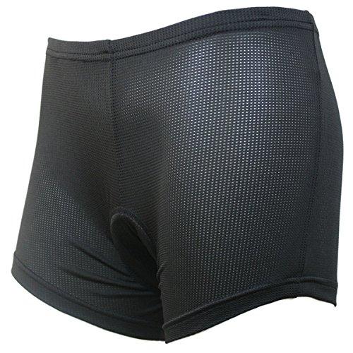MaMaison007 Arsuxeo donne sport ciclismo pantaloncini equitazione pantaloni biancheria intima pantaloncini corti con Silicone Pad nero - XS