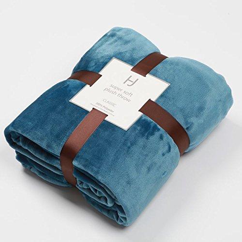Flanell Decke Decke verdickte Klimaanlage decke Doppelbett Sommer Handtuch Farbe coral Teppich, 180 CM * 229 CM, Rauch blau (Rauch-teppich)