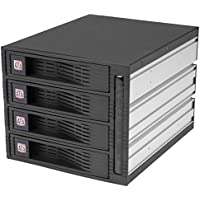 StarTech.com Backplane per Rack Portatile Trayless Hot-Swap SATA 3.5 Pollici, 4 Unità, Nero