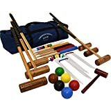Set Di Croquet Longworth Da Quattro Giocatori In Una Borsa Di Luxo - Kit Di Croquet Per Adulti In Una Borsa Di Telo - Di Big Game Hunters