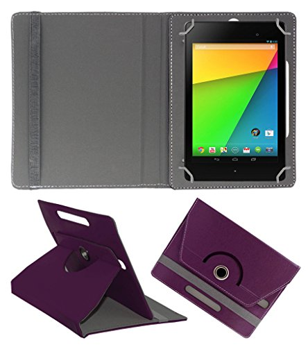 Acm Rotating 360° Leather Flip Case For Asus Google Nexus 7 Fhd 2013 Tablet Cover Stand Purple  available at amazon for Rs.149