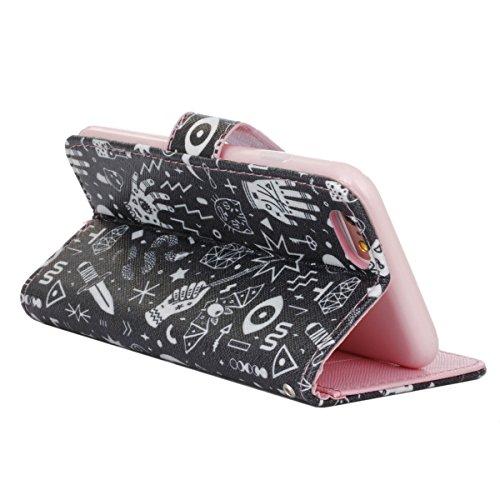PU für Apple iPhone 6 (4.7 Zoll) Hülle,Farbe geprägt Geprägte Handyhülle / Tasche / Cover / Case für das Apple iPhone 6 (4.7 Zoll) PU Leder Flip Cover Leder Hülle Kunstleder Folio Schutzhülle Wallet T 4