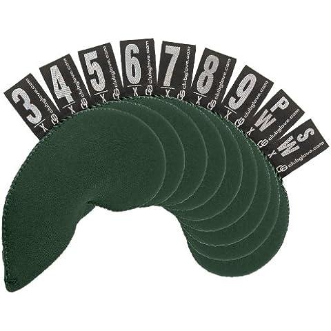 Club Glove 9 pezzi di ferro in Neoprene, taglia XL, colore: verde