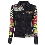 Desigual Damen Jeansjacke, Farbe:schwarz;Größe:38