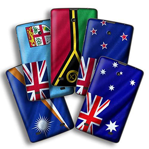 atFolix Designfolie kompatibel mit LG G Pad 7.0, Skin Aufkleber (Flaggen aus Australien und Ozeanien) (7 0 G Pad)