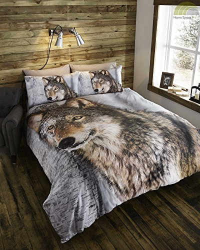 thru-the-lens-wolf-quilt-duvet-cover-and-2-pillowcases-bed-set-polycotton-brown-king