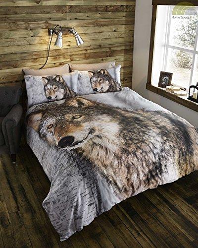 durch-das-objektiv-wolf-quilt-bettbezug-und-2-kissenbezuge-bettwasche-set-polycotton-braun-king