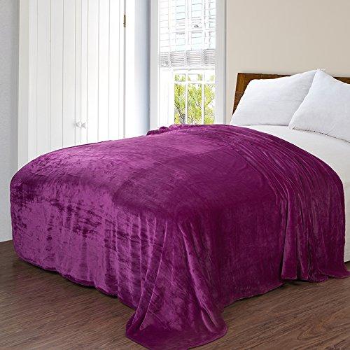 WDZA D'Épaisseur Double Américaine Cashmere Corail Couverture, 150Cmx200Cm, Violet Rose