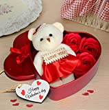 Tied Ribbons Valentine'S Gift For Girlfriend Boyfriend Husband Wife Special Gift Pack (Heart Shape)