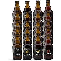 CEREX- Pack Degustación de 20 Botellas de Cerveza Artesana Gourmet de 33 cl.