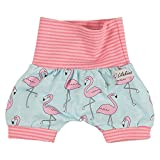 "Lilakind"" Kurze Kinder-Hose Baby Shorts Buchse Sommerhose Mädchen Flamingo Rosa Gr. 74/80- Made in Germany"