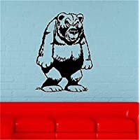Wall Decor Stickers for Living Room Funny Grizzly Bear Animal for Kids