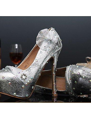 ShangYi Damen - Hochzeitsschuhe - Absätze - High Heels - Hochzeit / Party & Festivität - Silber 5in & over