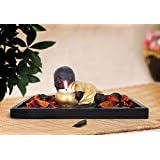 TiedRibbons Buddha Tealight Candle Holders With Wooden Tray And Potpourri | Showpiece For Office | Gift For House Warming Function | Showpieces For Drawing Room