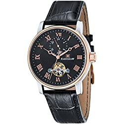 Thomas Earnshaw Men's Westminster Automatic Watch with Black Dial Analogue Display and Black Leather Strap ES-8042-04