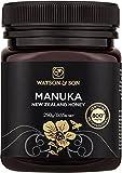 Watson & Son zertifizierter Manuka-Honig MGO 800+ (250g) • Premium Qualität • reines Naturprodukt • antibakteriell aktiv • mit kontrolliertem Methylglyoxal-Gehalt • Direktimport aus Neuseeland