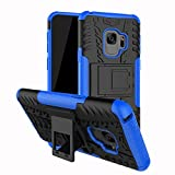 Dazzled, Stylish Heavy Duty Shock Proof Armour Dual Protection Cover with Built in Kickstand For Samsung Galaxy S9 (Blue)