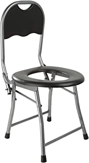 Foldable Camping Toilet Chair, Black
