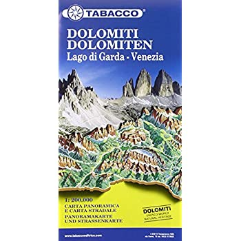 Dolomites / Lake Garda / Venice Road and Panoramic Map 2015