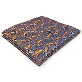 S&W SHLAX&WING Men Handkerchief Orange Paisley 12.6